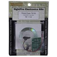 Nightfire LED Robot Eyes with Tilt PCB Kit - Red