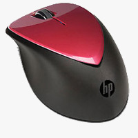 HP X4000 Wireless Laser Mouse with Nano Receiver - Red