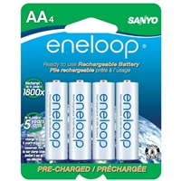 Eneloop AA NiMH 2000mAh Pre-Charged Rechargeable Batteries 4 Pack