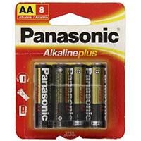 Panasonic Energy of America Alkaline Plus AA Battery - 8 Pack