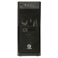 Thermaltake V2+ V3 ATX Mid Tower Computer Case with 450 Watt Power Supply - Black (Refurbished)