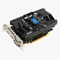 MSI Radeon R7 260X Overclocked 2048MB GDDR5 PCIe 3.0 x16 Video Card