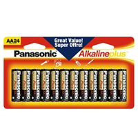 Panasonic Energy of America AA Alkaline Plus Battery 24-Pack