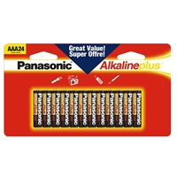 Panasonic Energy of America AAA Alkaline Plus Battery 24-Pack