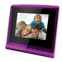 "Coby Electronics 3.5"" Digital Picture Frame with Alarm Clock"