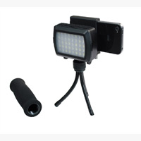 Dot Line Mini Tripod with LED Light for iPhone