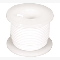 Elenco 22 AWG Stranded Wire 25' - White