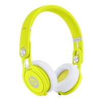 Dr dre mixr on ear headphone neon yellow mh8c2am a micro center
