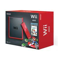 Nintendo WII MINI RED W/MARIO KART