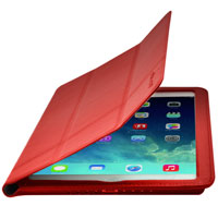 Cirago Slim-Fit Leather Case for iPad Air - Red