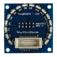 Tiny Circuits TinyShield 16 Edge LEDs- Green