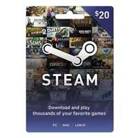 Steam Wallet $20 Gift Card