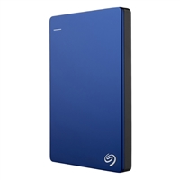 Seagate Backup Plus Slim 1TB SuperSpeed USB 3.0 Portable Hard Disk Drive - Blue
