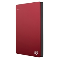 Seagate Backup Plus Slim 1TB SuperSpeed USB 3.0 Portable Hard Disk Drive - Red