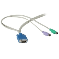 Cables To Go 3-in-1 HD15 VGA MM PS/2 MM KVM Cable - 10ft