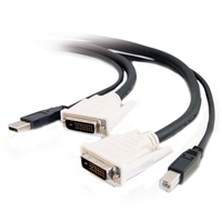 Cables To Go DVI-D Dual Link USB 2.0 KVM Cable - 10ft