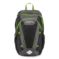 Jansport Ember Laptop Backpack - Shady Grey/Zap Green