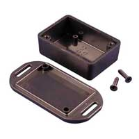 MCM Electronics Black Mini Plastic Box with Flanged lid