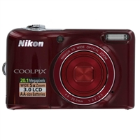 Nikon Coolpix L30 20.1 Megapixel Digital Camera - Red