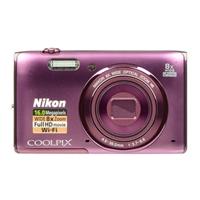 Nikon Coolpix S5300 16.0 Megapixel Digital Camera-Plum
