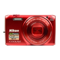 Nikon Coolpix S6800 16.0 Megapixel Digital Camera - Red