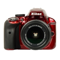 Nikon D3300 24.2 Megapixel Digital SLR Camera Kit w/18-55mm Lens - Red