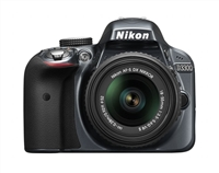 Nikon D3300 24.2 Megapixel Digital SLR Camera Kit with 18-55mm VR II Lens -Grey