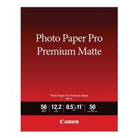 "Canon 8.5"" x 11"" Premium Pro Matte Photo Paper 50-Sheets"