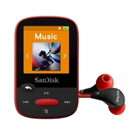 SanDisk Clip Sport 4GB MP3 Player - Red