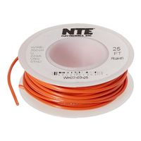 NTE Electronics 25' Hook Up Wire (Stranded Type) - Red