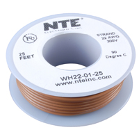 NTE Electronics Hook Up Wire Stranded Type - Brown