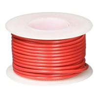 NTE Electronics 25' Hook Up Wire Stranded Type - Red