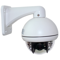 WinBook Security CCD-II 650TV Lines Indoor/Outdoor Pan-Tilt-Zoom (PTZ) Security Camera with 65ft Night Vision