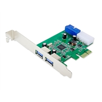 Syba 2-Port SuperSpeed USB 3.0 PCIe x1 Card