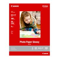 "Canon 8.5""x11"" GP-601 Glossy Photo Paper 100-Sheets"
