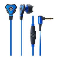 Audio Technica SonicFuel Hybrid In Ear Headphones with Microphone - Blue
