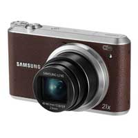 Samsung WB350 16.3 Megapixel Smart Digital Camera - Brown