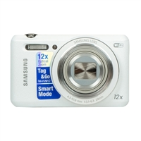 Samsung WB35F 16.2 Megapixel SMART Digital Camera - White