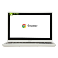 "Acer C720P-2600 11.6"" Touchscreen Chromebook - Moonstone White"