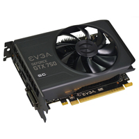 EVGA GeForce GTX 750 Superclocked 1024MB GDDR5 PCIe x16 Video Card