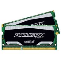 Crucial 8GB DDR3-1600 (PC3-12800) CL7 SO-DIMM Laptop Memory Kit (Two 4GB Memory Modules)