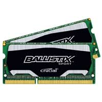 Crucial Ballistix Sport 16GB DDR3-1866 (PC3-14900) CL10 Dual Channel Laptop Memory Kit (Two 8GB Memory Modules)