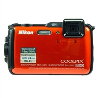Nikon Coolpix AW120 16 Megapixel Digital Camera - Orange