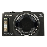 Nikon Coolpix S9700 16.0 Megapixel Digital Camera - Black