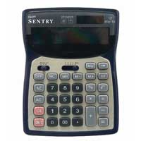 Sentry Industries Deluxe Desktop Calculator - Black