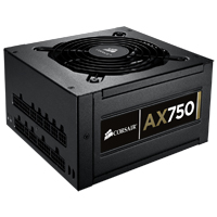 Corsair Professional Series Gold AX750 High Performance 750 Watt Modular ATX Power Supply - Refurbished