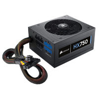 Corsair HX Series HX750 Watt 80Plus Gold Certified Modular Power Supply Refurbished