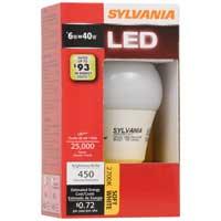 Osram Sylvania 6-Watt A19 Semi Omni Directional LED Bulb