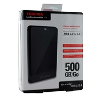 Toshiba Canvio Basics 3.0 500GB USB 3.0 Portable Hard Drive - Black