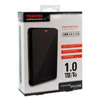 Toshiba Canvio Basics 3.0 1TB USB 3.0 Portable Hard Drive - Black